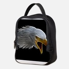 American Bald Eagle Head Neoprene Lunch Bag