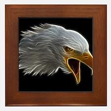 American Bald Eagle Head Framed Tile