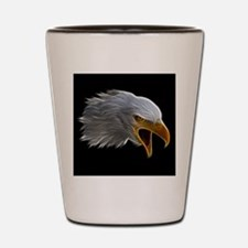 American Bald Eagle Head Shot Glass