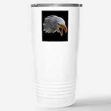 American Bald Eagle Head Travel Mug