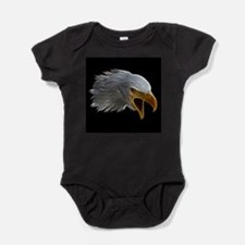 American Bald Eagle Head Baby Bodysuit