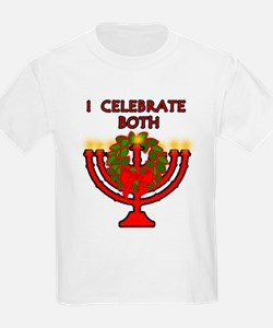 Christmas AND Hanukkah Kids T-Shirt