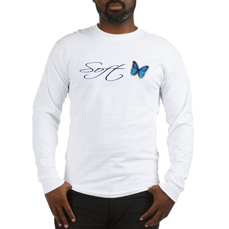Soft Blue Morpho Long Sleeve T-Shirt