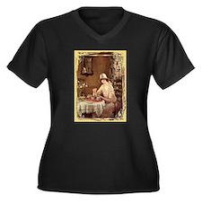 Afternoon TeaWomen's Plus Size V-Neck Dark T-Shirt