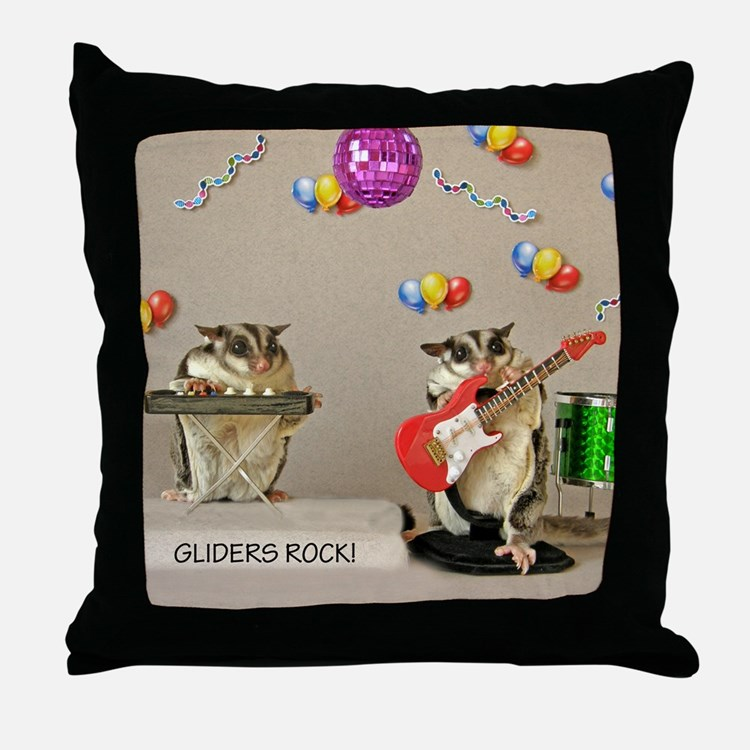 Gliders Rock Throw Pillow