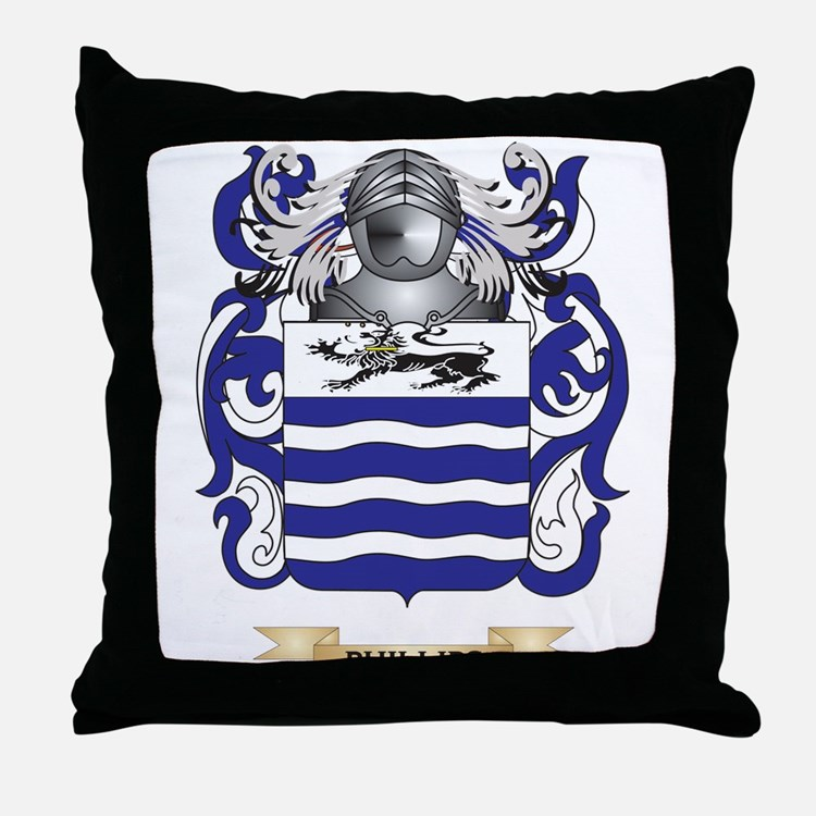 Phillips Family Crest Pillows, Phillips Family Crest Throw Pillows & Decorative Couch Pillows