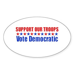 Support our Troops -- Vote De Oval Decal