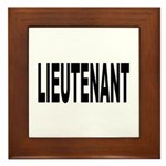 Lieutenant Framed Tile