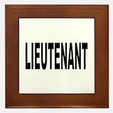 Lieutenant Framed Tile