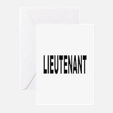 Lieutenant Greeting Cards (Pk of 10)