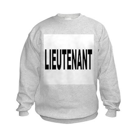 Lieutenant (Front) Kids Sweatshirt