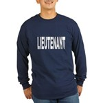 Lieutenant (Front) Long Sleeve Dark T-Shirt