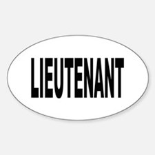 Lieutenant Oval Decal
