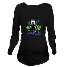 scuba kitty Long Sleeve Maternity T-Shirt
