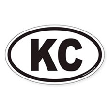 Kansas City KC Euro Oval Decal