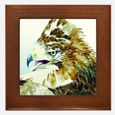 Red-tail Watercolor Framed Tile
