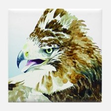 Red-tail Watercolor Tile Coaster