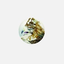 Red-tail Watercolor Mini Button