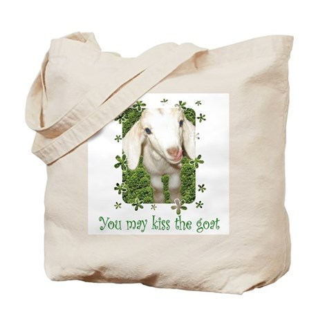 Kiss the Goat Tote Bag
