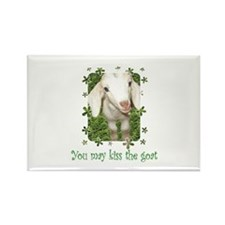 Kiss the Goat Rectangle Magnet
