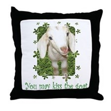 Kiss the Goat Throw Pillow