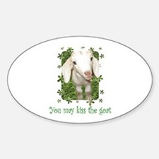 Kiss the Goat Oval Decal