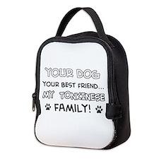 My Tokinese Cat is Family Neoprene Lunch Bag