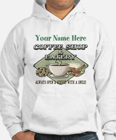 Personalizeable Coffee Shop Hoodie