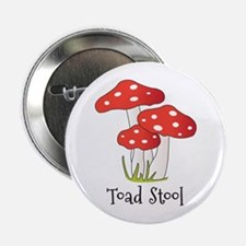 """Toad Stool 2.25"""" Button"""