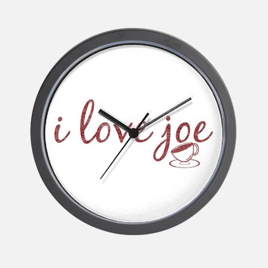 I Love Joe Wall Clock
