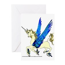 Flying Unicorn Filly Greeting Cards (Pk of 10)