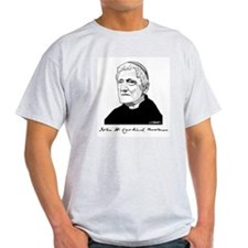 Cardinal Newman Gray T: Lead, Kindly T-Shirt