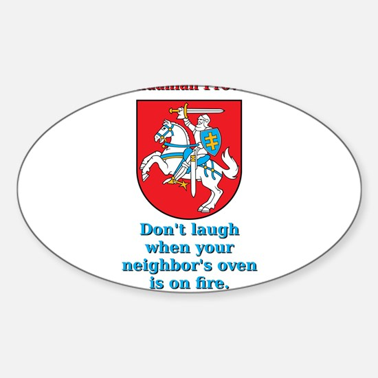Don't Laugh - Lithuanian Proverb Decal