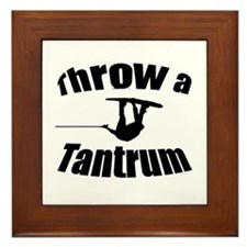 Throw a Tantrum Framed Tile