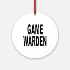 Game Warden Ornament (Round)