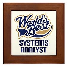 Systems Analyst (Worlds Best) Framed Tile