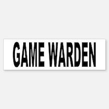 Game Warden Bumper Bumper Bumper Sticker