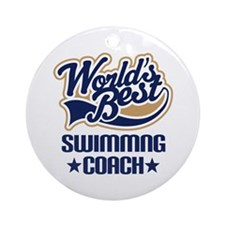 Swimming Coach (Worlds Best) Ornament (Round)