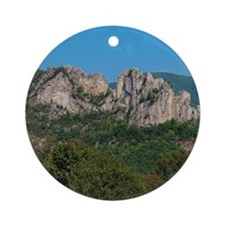 SENECA ROCKS Ornament (Round)