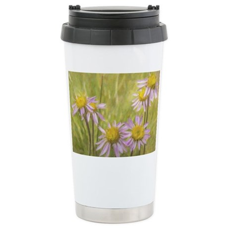 Summer Daisies Stainless Steel Travel Mug