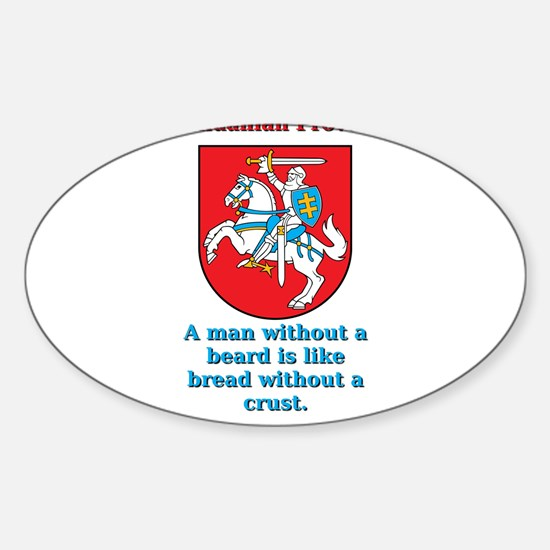 A Man Without A Beard - Lithuanian Proverb Decal