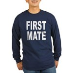 First Mate (Front) Long Sleeve Dark T-Shirt