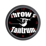 Throw a Tantrum Wall Clock