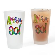 Awesome 80 Drinking Glass