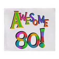 Awesome 80 Throw Blanket