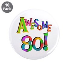 "Awesome 80 3.5"" Button (10 pack)"