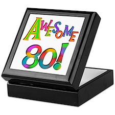 Awesome 80 Keepsake Box