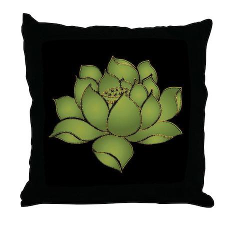 Lotus Flower Throw Pillow by okawajapan