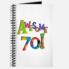 Awesome 70 Birthday Journal