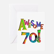 Awesome 70 Birthday Greeting Card